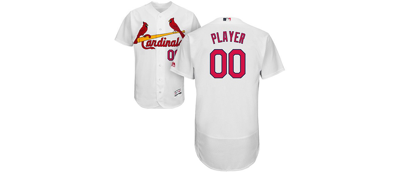 Majestic Men's Full Roster Authentic St. Louis Cardinals Flex Base Home White On-Field Jersey