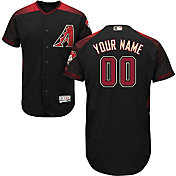Majestic Men's Custom Authentic Arizona Diamondbacks Flex Base Alternate Black On-Field Jersey