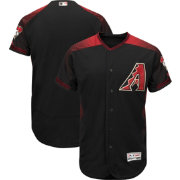 Majestic Men's Authentic Arizona Diamondbacks Alternate Black Flex Base On-Field Jersey