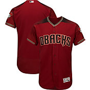 Majestic Men's Authentic Arizona Diamondbacks Alternate Red Flex Base On-Field Jersey
