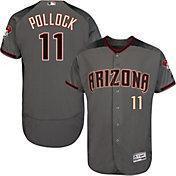 Majestic Men's Authentic Arizona Diamondbacks A.J. Pollock #11 Flex Base Road Grey On-Field Jersey