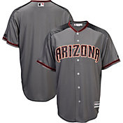 Majestic Men's Replica Arizona Diamondbacks Cool Base Road Grey Jersey