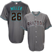 Majestic Men's Replica Arizona Diamondbacks Shelby Miller #17 Cool Base Alternate Road Grey Jersey