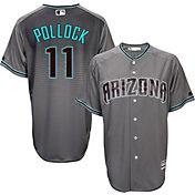 Majestic Men's Replica Arizona Diamondbacks A.J. Pollock #11 Cool Base Alternate Road Grey Jersey