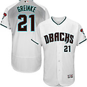 Majestic Men's Authentic Arizona Diamondbacks Zack Greinke #21 Alternate Home White Flex Base On-Field Jersey