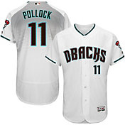 Majestic Men's Authentic Arizona Diamondbacks A.J. Pollock #11 Alternate Home White Flex Base On-Field Jersey