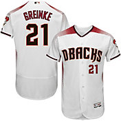 Majestic Men's Authentic Arizona Diamondbacks Zack Greinke #21 Home White Flex Base On-Field Jersey