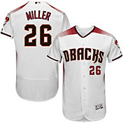 Majestic Men's Authentic Arizona Diamondbacks Shelby Miller #26 Home White Flex Base On-Field Jersey