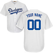 Majestic Men's Custom Cool Base Cooperstown Replica Los Angeles Dodgers White Jersey