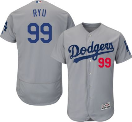 Majestic Men s Authentic Los Angeles Dodgers Hyun-jin Ryu  99 ... 0bce8f8e191