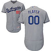Majestic Men's Full Roster Authentic Los Angeles Dodgers Flex Base Road Grey On-Field Jersey