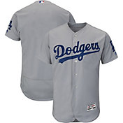 Majestic Men's Authentic Los Angeles Dodgers Alternate Road Grey Flex Base On-Field Jersey