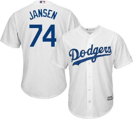 Majestic Men s Replica Los Angeles Dodgers Kenley Jansen  74 Cool ... 27ef1e8cc3e