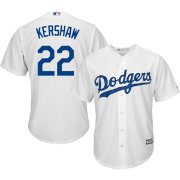 3dff598a9 Majestic Men s Replica Los Angeles Dodgers Clayton Kershaw  22 Cool Base  Home White Jersey