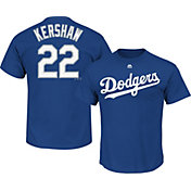 Majestic Men's Los Angeles Dodgers Clayton Kershaw #22 Royal T-Shirt