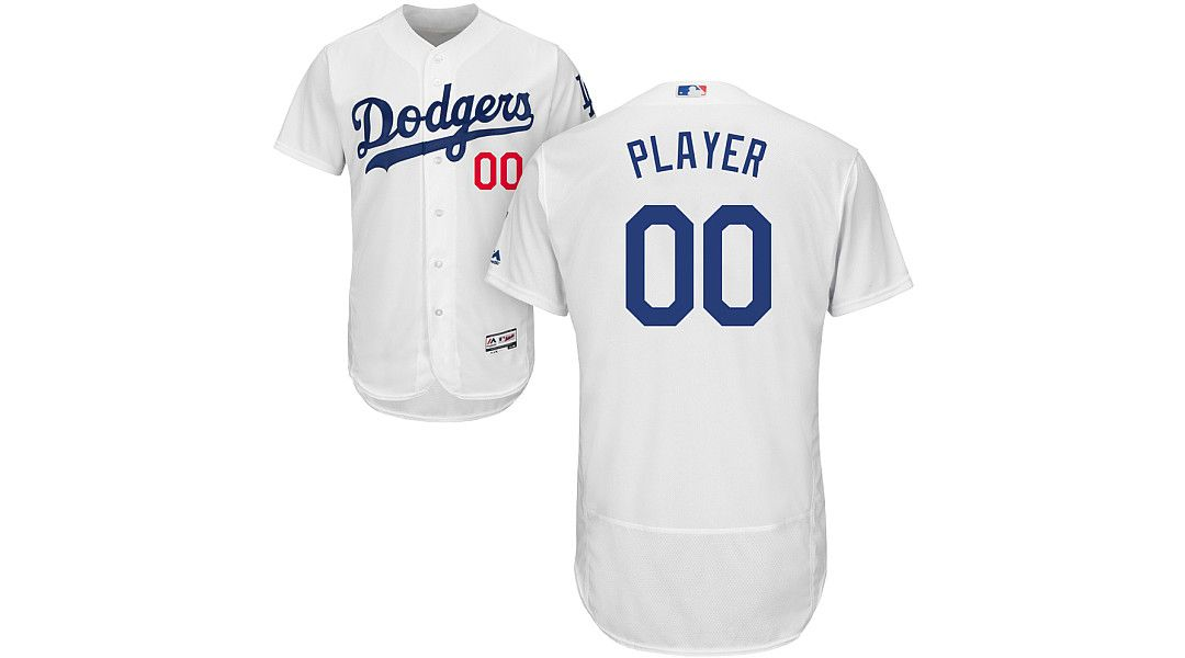 release date: 983c3 90ffe Majestic Men's Full Roster Authentic Los Angeles Dodgers Flex Base Home  White On-Field Jersey