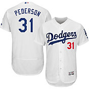 Majestic Men's Authentic Los Angeles Dodgers Joc Pederson #31 Home White Flex Base On-Field Jersey