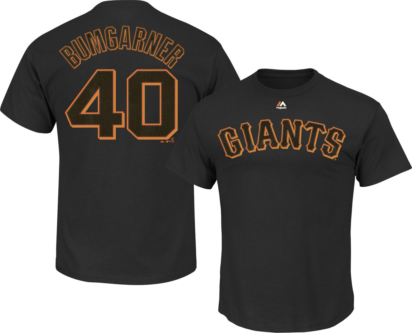 Majestic Men's San Francisco Giants Madison Bumgarner #40 Black T-Shirt
