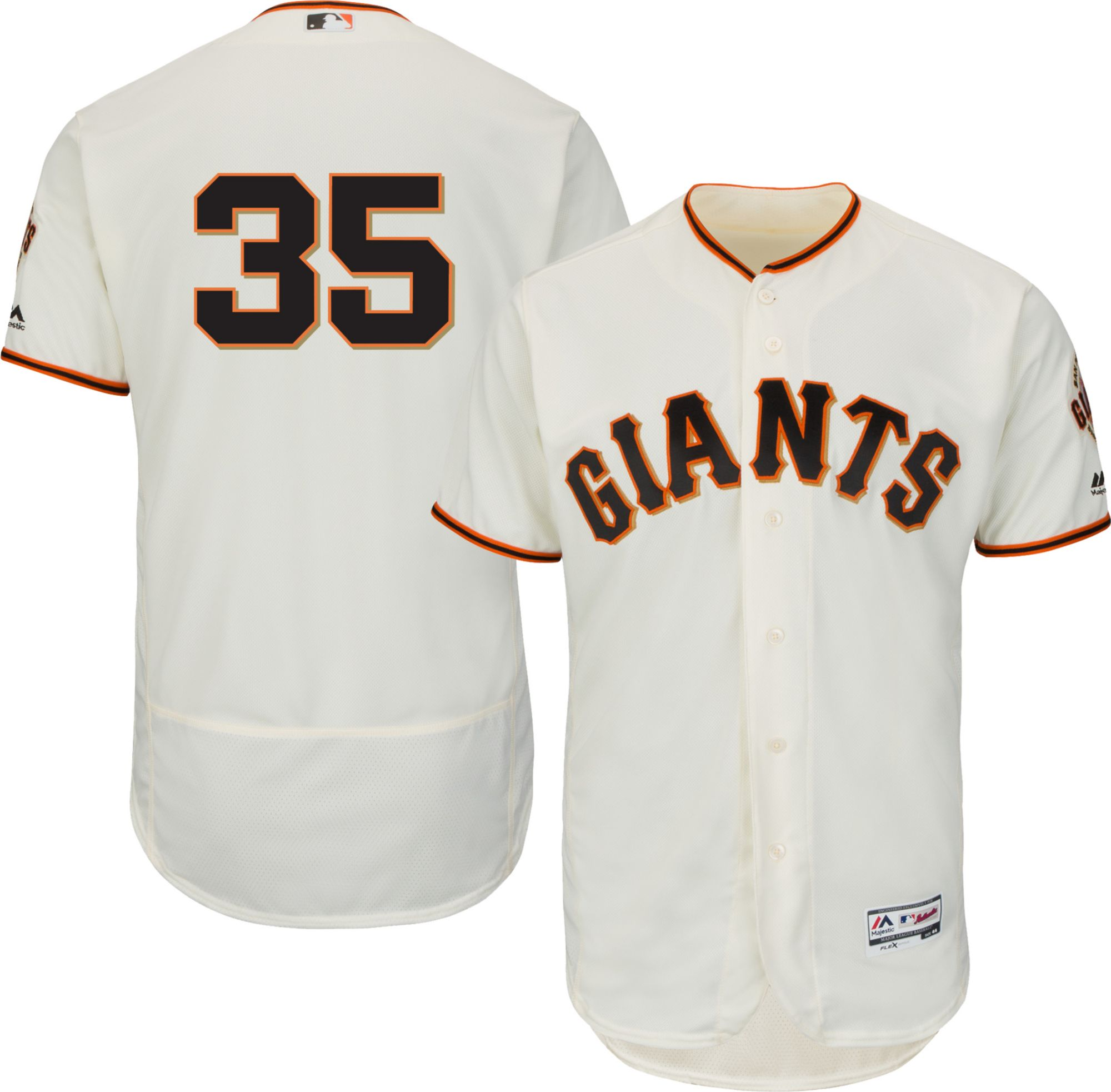 63ac774c Majestic Men's Authentic San Francisco Giants Brandon Crawford #35 ...