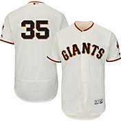 Majestic Men's Authentic San Francisco Giants Brandon Crawford #35 Home Ivory Flex Base On-Field Jersey