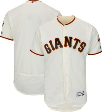 Majestic Men's Authentic San Francisco Giants Home Ivory Flex Base On-Field Jersey