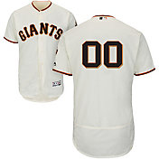 Majestic Men's Custom Authentic San Francisco Giants Flex Base Home Ivory On-Field Jersey