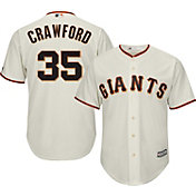 Majestic Men's Replica San Francisco Giants Brandon Crawford #35 Cool Base Home Ivory Jersey