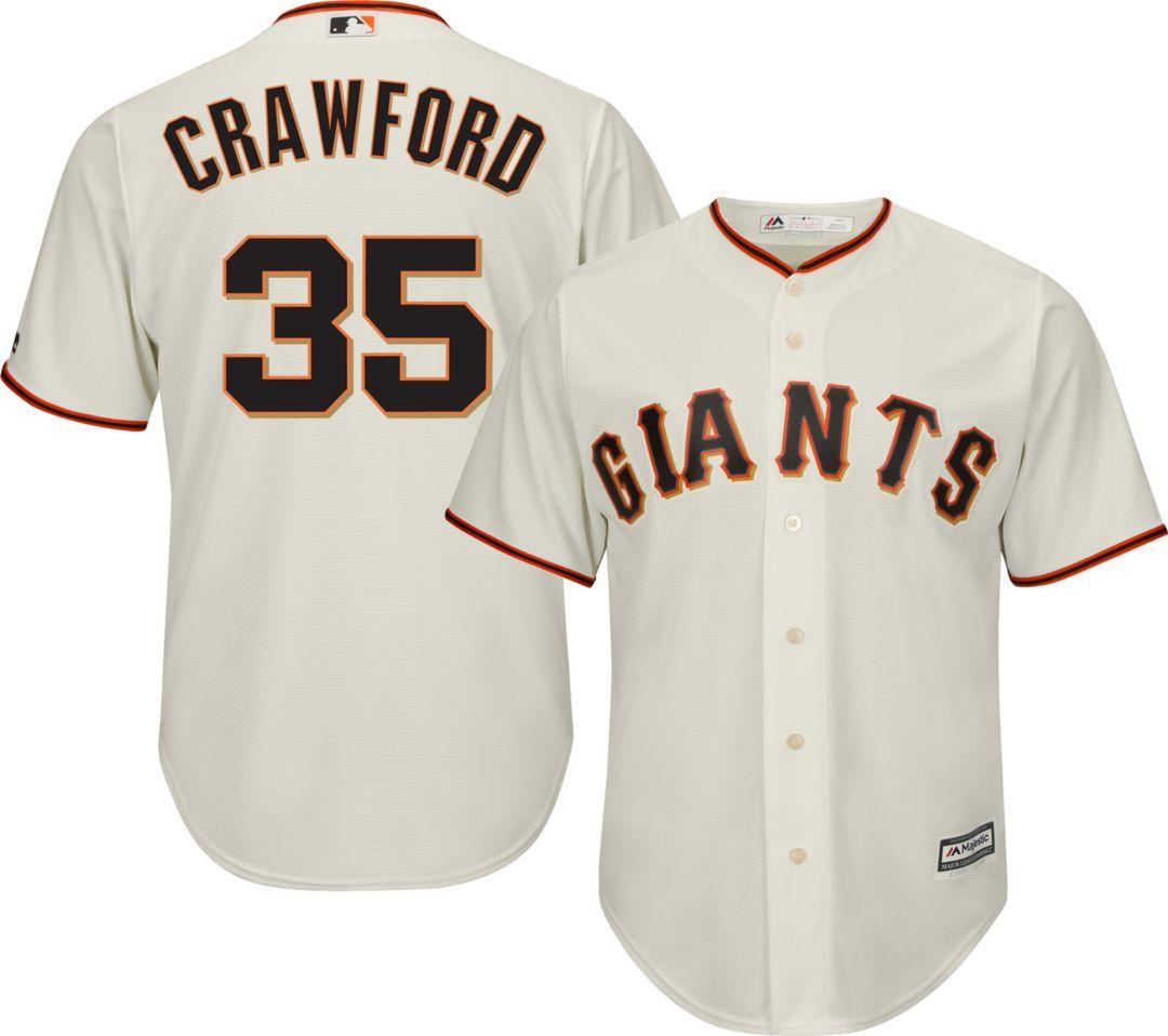 pretty nice bc1be 2d508 Majestic Men's Replica San Francisco Giants Brandon Crawford #35 Cool Base  Home Ivory Jersey
