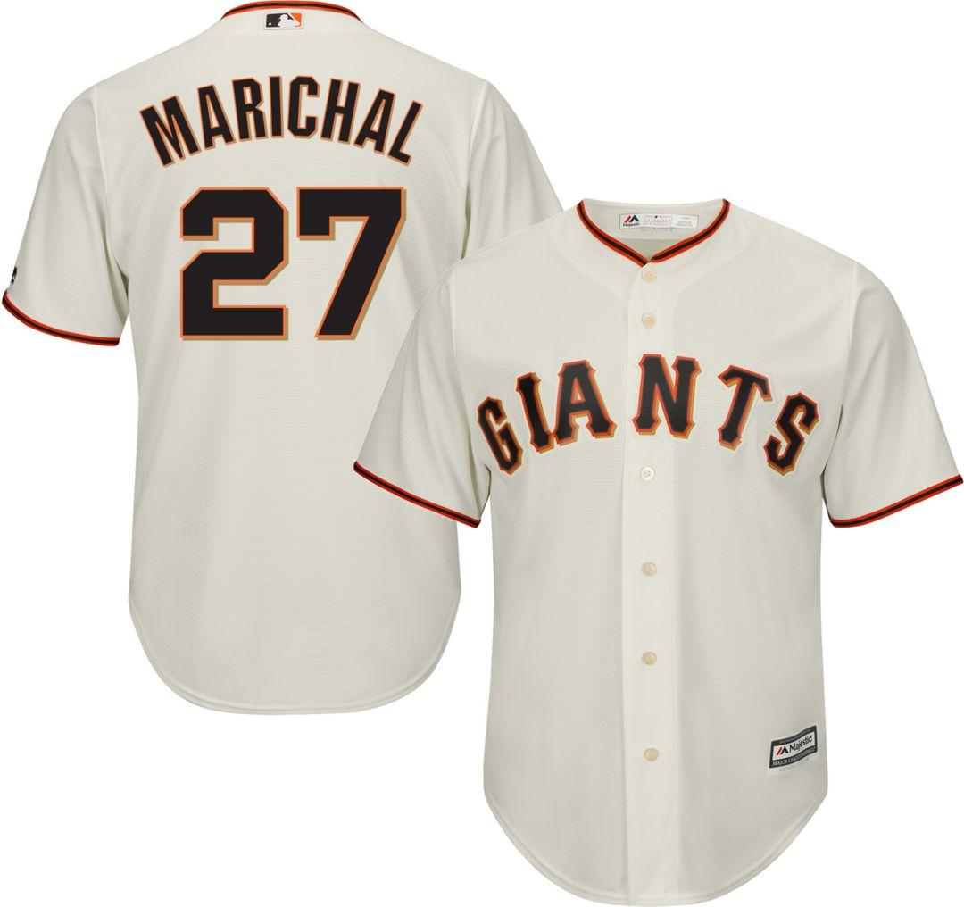 new product 5c130 f4cea Majestic Men's Replica San Francisco Giants Juan Marichal #27 Cool Base  Home Ivory Jersey