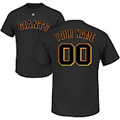 Majestic Men's Custom San Francisco Giants Black T-Shirt