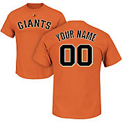 Majestic Men's Custom San Francisco Giants Orange T-Shirt