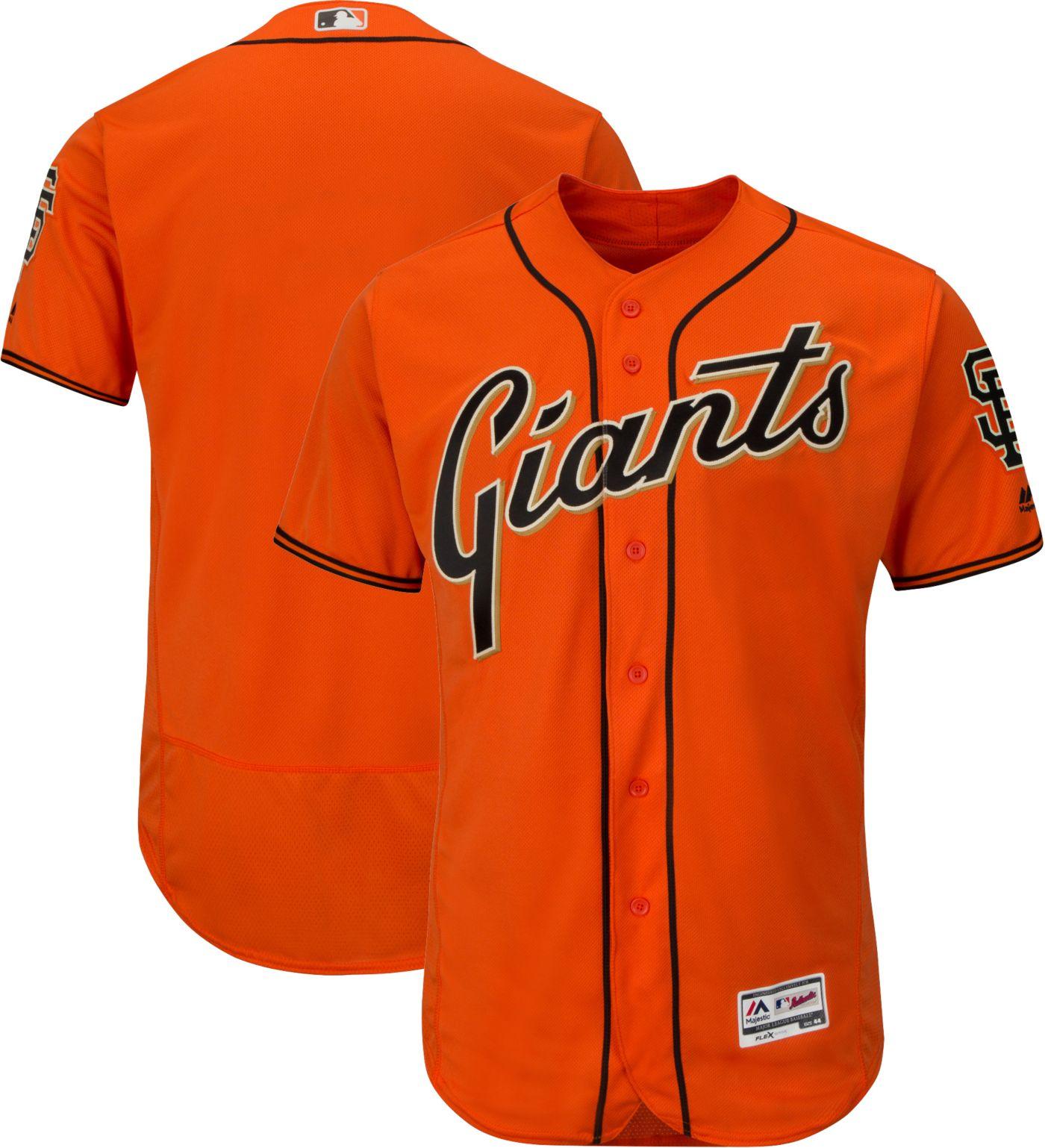 Majestic Men's Authentic San Francisco Giants Alternate Orange Flex Base On-Field Jersey