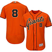 Majestic Men's Authentic San Francisco Giants Hunter Pence #8 Alternate Orange Flex Base On-Field Jersey