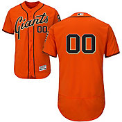 Majestic Men's Custom Authentic San Francisco Giants Flex Base Alternate Orange On-Field Jersey