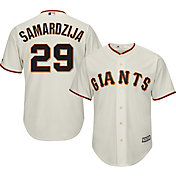 Majestic Men's Replica San Francisco Giants Jeff Samardzija #29 Cool Base Home Ivory Jersey