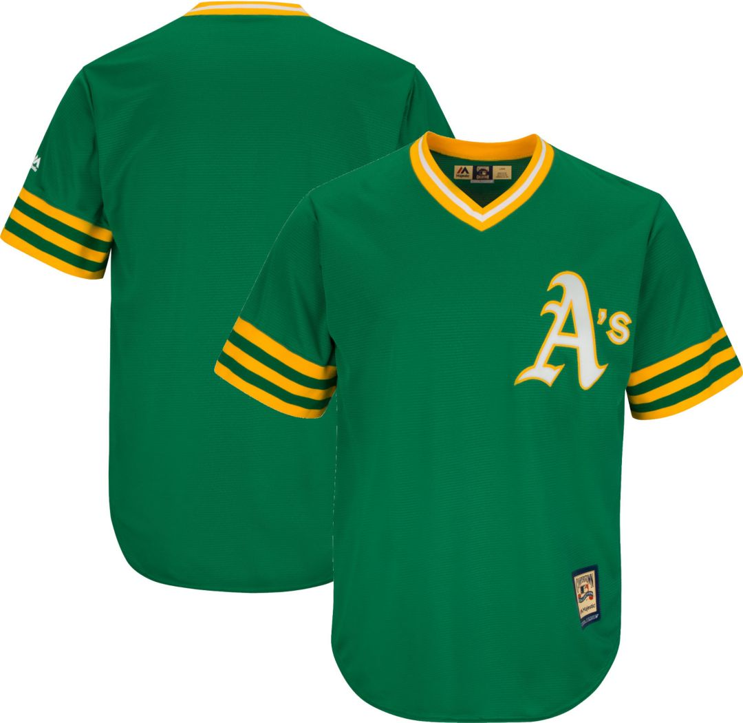 100% authentic a4174 1249e Majestic Men's Replica Oakland Athletics Cool Base Green Cooperstown Jersey