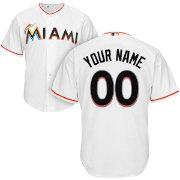 829d8704 ... promo code for majestic mens custom cool base replica miami marlins  home white jersey 97568 b97c1
