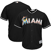 Majestic Men's Replica Miami Marlins Cool Base Alternate Black Jersey