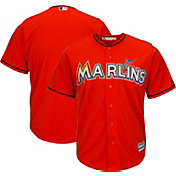 Majestic Men's Replica Miami Marlins Cool Base Alternate Orange Jersey