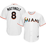 Majestic Men's Replica Miami Marlins Don Mattingly #8 Cool Base Home White Jersey