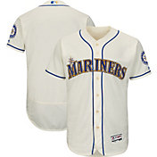 Majestic Men's Authentic Seattle Mariners Alternate Ivory Flex Base On-Field Jersey