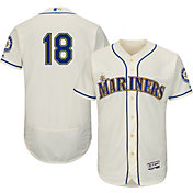 Majestic Men's Authentic Seattle Mariners Hisashi Iwakuma #18 Alternate Ivory Flex Base On-Field Jersey
