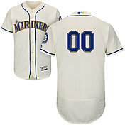 Majestic Men's Full Roster Authentic Seattle Mariners Flex Base Alternate Ivory On-Field Jersey