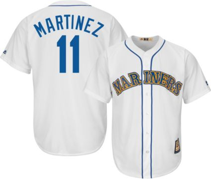 Majestic Men s Replica Seattle Mariners Edgar Martinez Cool Base ... 67b39b122