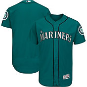 Majestic Men's Authentic Seattle Mariners Alternate Teal Flex Base On-Field Jersey