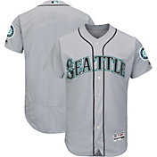 Majestic Men's Authentic Seattle Mariners Road Grey Flex Base On-Field Jersey