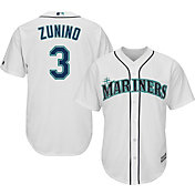 Majestic Men's Replica Seattle Mariners Mike Zunino #3 Cool Base Home White Jersey