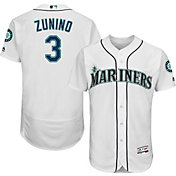 Majestic Men's Authentic Seattle Mariners Mike Zunino #3 Home White Flex Base On-Field Jersey