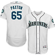 Majestic Men's Authentic Seattle Mariners James Paxton #65 Home White Flex Base On-Field Jersey