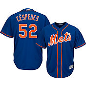 Majestic Men's Replica New York Mets Yoenis Cespedes #52 Cool Base Alternate Home Royal Jersey
